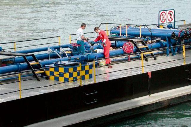 Školenie posádok riečnych plavidiel